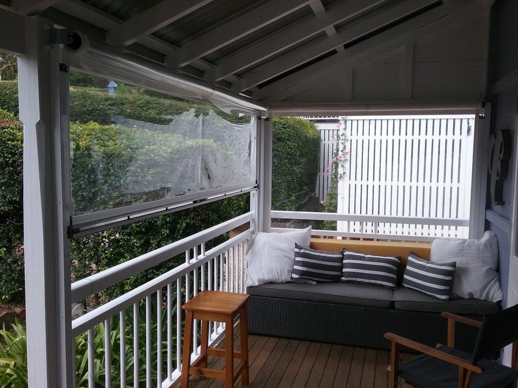 Clear PVC Ziptrak Awnings Bangalow, Byron Bay