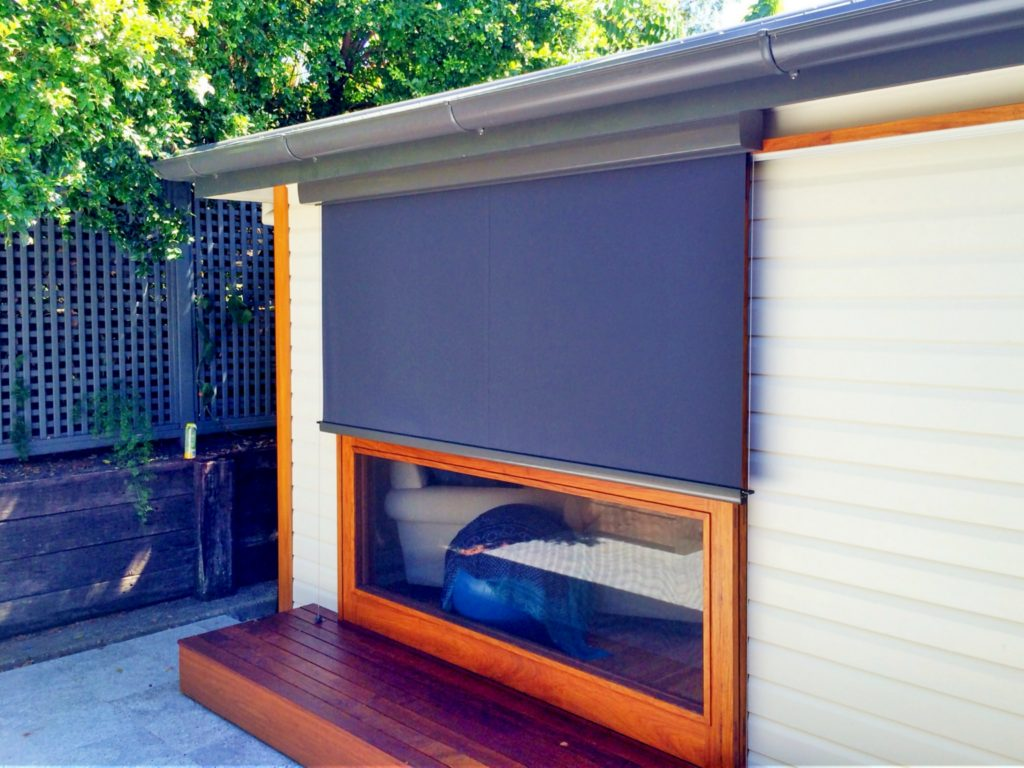 Motorised Wire Guide Awning Sliding Door Byron Bay
