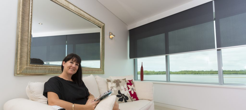 Creative Blinds & Awnings Motorised Roller Blinds with Pelmets Ballina